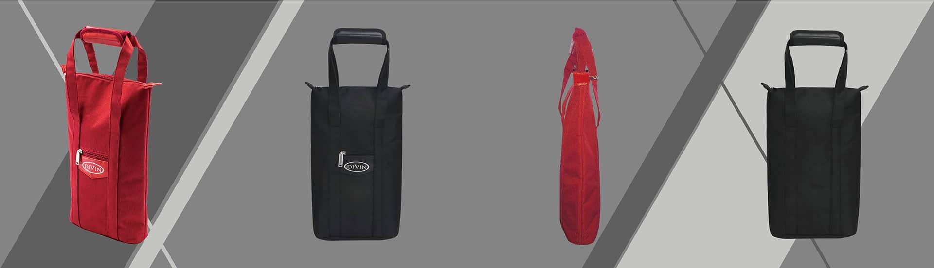 紅色酒袋各角度展示